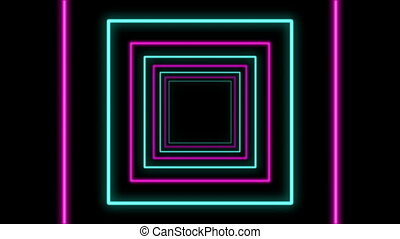 """Abstract Square Shaped Multicolored Tunnel"""