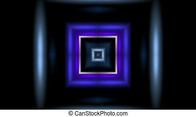 Abstract square tunnel