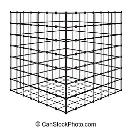 Abstract square with grid. eps 10 vector illustration