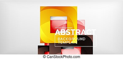 Abstract squares geometric background can be used in cover design, book design, website background