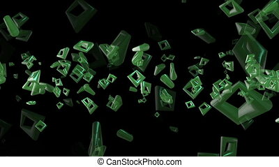 Abstract squares in green color