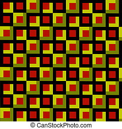 Abstract Squares Mosaic Background.