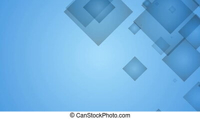Squares on Blue Background.