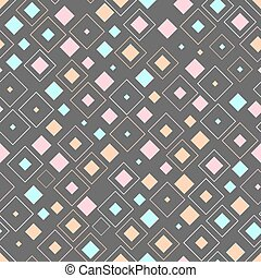 Abstract squares seamless vector background