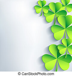 Abstract St. Patrick day card