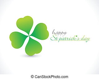 abstract st patrick day greeting vector illustration