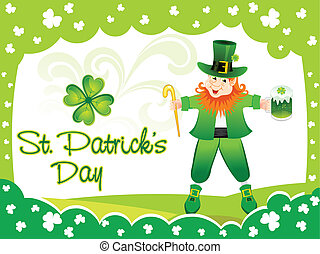 abstract st patrick day leprechaun vector illustration