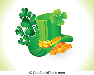 abstract st patrick hat vector illustration