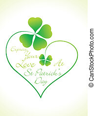 abstract st patrick heart vector illustration
