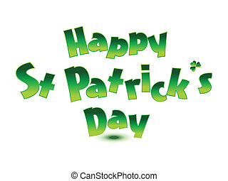abstract st patrick text vector illustration