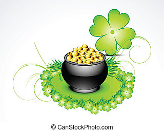 abstract st patricks background