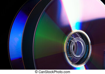 Stack of DVD - Abstract Stack of DVD - isolated on black...