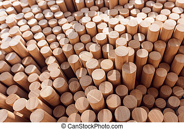 Abstract stacked wood log background