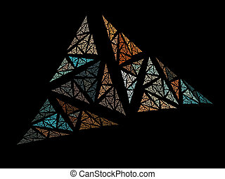 Abstract Stain Glass Background