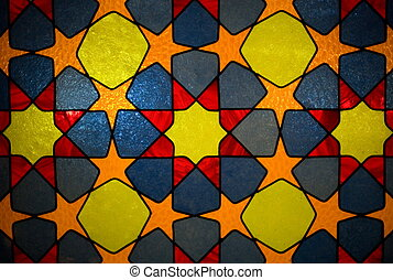 Abstract stained-glass background