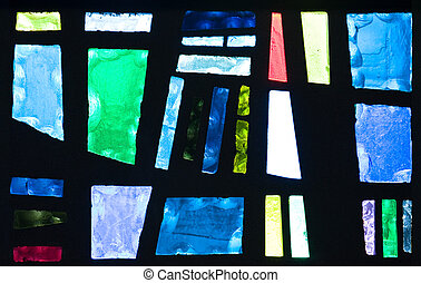 Abstract Stained Glass