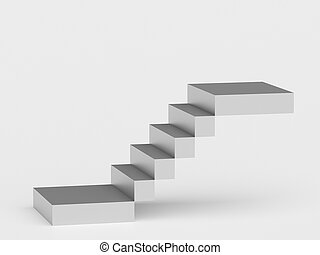 Abstract staircase. Stairs with steps, business concept