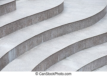 Abstract stairs made of stone, construction detail