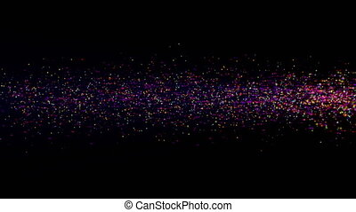 abstract star dust particle light motion 4k