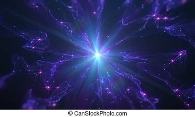 abstract star in space