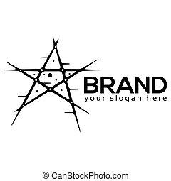 Abstract star logo. flat design. Vector Illustration on white background