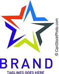 Abstract star logo vector