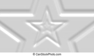 Abstract Star looped 3d abstract background. Shallow depth of field animation. Magic digital space. Macro shot 3d motion graphics.