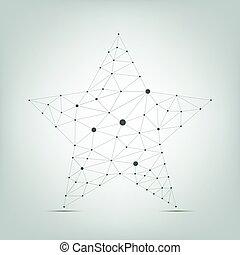 Abstract star shape - Abstract polygonal geometric star...