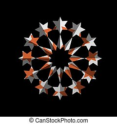 Abstract star symbol for design