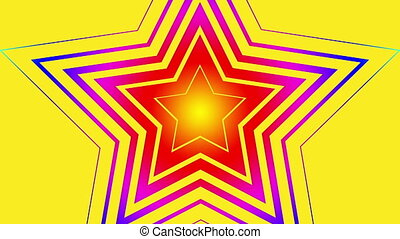 abstract star vector blinking retro
