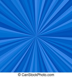 Abstract starburst background from radial stripes in blue...