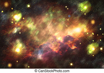 Abstract Starry Background - Colorful abstract background...