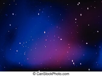 Abstract starry night sky design