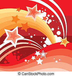 Abstract Stars And Waves Background