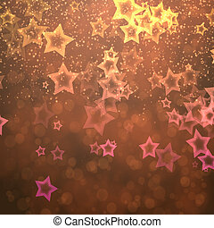Abstract stars from bokeh background