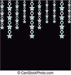 Abstract stars on black background