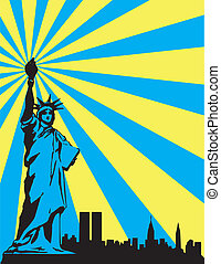 abstract statue of liberty