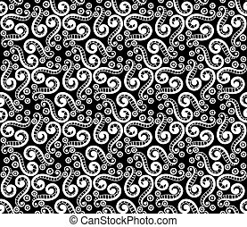 Abstract steampunk seamless hand-drawn pattern.