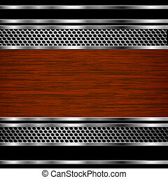 Abstract steel and wood business background