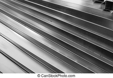 Abstract Steel Pattern - -- detail of an outdoor design made...
