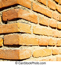 abstract step brick in italy old wall and texture material the background