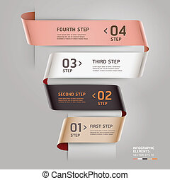 Abstract step options ribbon style. - Abstract step up...