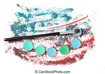 Abstract still life with eye shadows