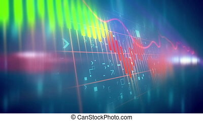 """Abstract Stock Market background with Candle stick"" -..."