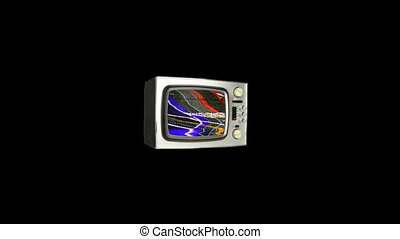 abstract stop frame retro televison moving