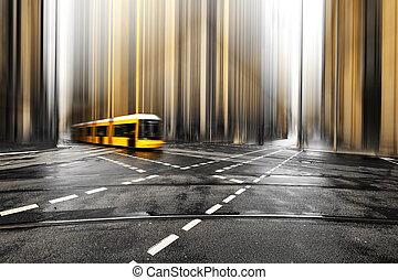 abstract, straat, europe., duitsland, berlin