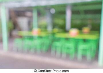 abstract, straat, verdoezelen, restaurant