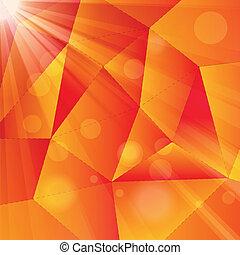 abstract, stralen, achtergrond, geometrisch
