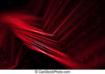 abstract stream array colorful glitter sparkle red lines with particles on black background science and research  technology