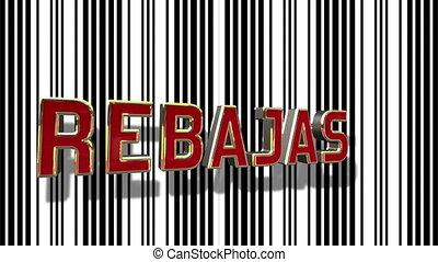 abstract, streepjescode, verkoop, looping, animation achtergrond, spaanse , lijn, 3d
